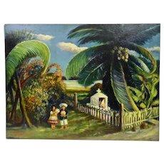 John Goossens Wayside Shrine Mexico Oil Painting c.1954 Navidad Bay Manzanillo Mexico