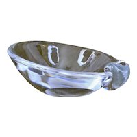 Steuben Glass Ashtray with Sloping Bowl