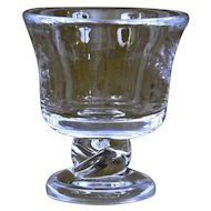Steuben Glass Urn Twisted Stem Mid Century