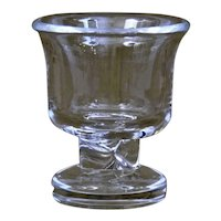 Steuben Glass Urn Twisted Stem Mid Century Modern