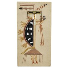 Sand Painting Native American Navajo Healing People On Board With Hanger
