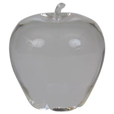 Steuben Glass Apple Paperweight Ornament