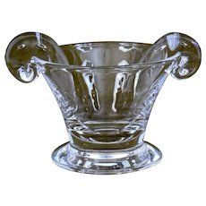 Steuben Glass Olive Dish scroll handles
