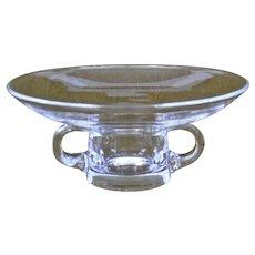 Steuben Glass Bowl Vase with handles