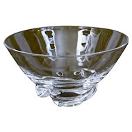 Steuben Glass Spiral Bowl