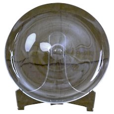 Steuben Glass Round Serving Plate