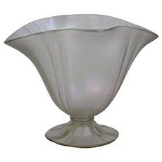 Steuben Verre de Soie Ovid Grotesque Shape Glass Bowl Vase Carder era. Shape Number 7307