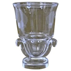 Steuben Glass Vase With Scroll Base