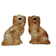 Staffordshire Pottery Dogs Pair