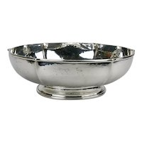 Sterling Silver Hand Wrought Hammered Footed Bowl Randahl Shop Arts And Crafts c.1930