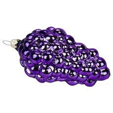 Glass Christmas Ornament Purple Grapes Bunch