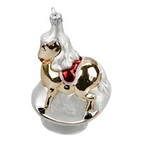 Rocking Horse Christmas Ornament Red Saddle Gold Body