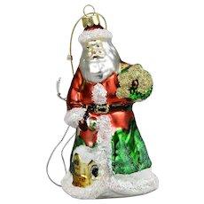 Santa Christmas Ornament Lord & Taylor Original Box