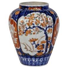 Japanese Imari Porcelain Vase Jar Meiji Period