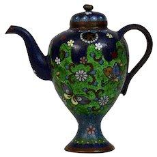 Cloisonné Teapot 19th Century Japanese Meiji Period