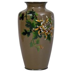 Silver Wire Cloisonné Vase Japanese 20th Century Possibly Ando Company