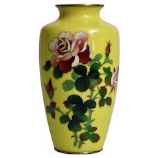 Silver Wire Cloisonné Vase Japanese 20th Century