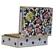 Silver Wire Cloisonné Box Inaba Company Japanese 20th Century