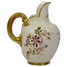 Royal Worcester Small Flat Back Form Creamer Pitcher England