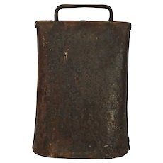 Cow Bell Vintage Hand Forged Iron