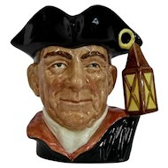 Royal Doulton Night Watchman Williamsburg Series Character Toby Jug Large