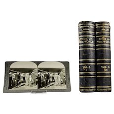 Stereographic Stereo Optic Cards Tour Of The World Vol. I, 1 & Vol. II, 100 Keystone View Company c.1930's Complete Set 100 Cards