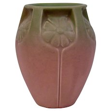 Rookwood Pottery Matte Rose Pink Green Production Vase 2380 Dated 1932