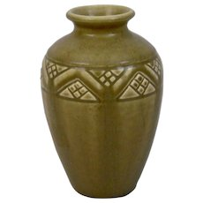 Rookwood Pottery Matte Brown Production Vase 2437 Dated 1925