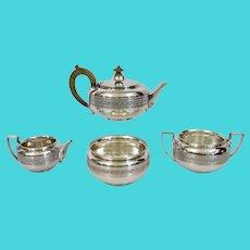 Tiffany & Co. English Sterling Tea Service 4 piece Greek Revival