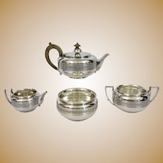 Tiffany & Co. English Sterling Tea Service 4 piece Greek Revival