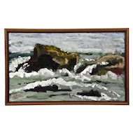 Seascape Rocks Waves Painting Lake Superior Carol Gorgas taipleNurmesniemi