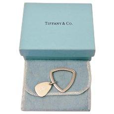 Tiffany & Co. Key Chain Sterling Silver Original Bag And Box