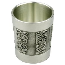 Mullingar Pewter Shot Glass Celtic Details The Bealin Cross Ireland