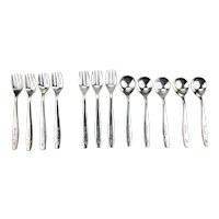 United Airlines Silver Plated Flatware International Silver Company c.1960
