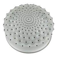 Lalique Crystal Cactus Pattern Covered Box Dresser Jar Black Enamel Details France