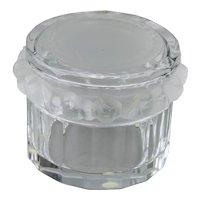 Lalique Crystal Masanges Pattern Covered Box Dresser Jar France