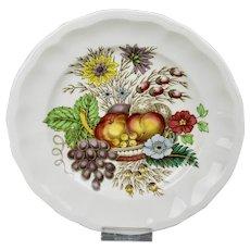 Spode Reynolds 7 Inch Dessert Plate Vibrant Fruits Floral Motif England