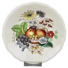 Spode Reynolds Side Fruit Sauce Bowl Vibrant Fruits Floral Motif England