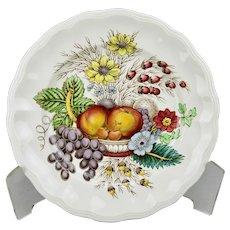 Spode Reynolds 7.75 Inch Salad Plate Vibrant Fruits Floral Motif England
