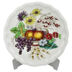 Spode Reynolds Dinner Plate Vibrant Fruits Floral Motif England