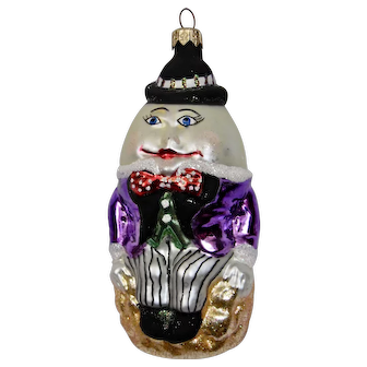 Christmas Ornament Humpty Dumpty Hand Colored Details