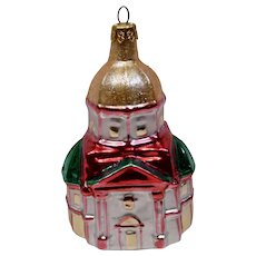 Christmas Ornament Basilica Church Hand Colored Details