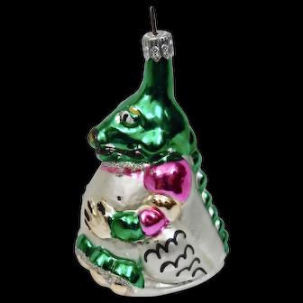 Christmas Ornament Dinosaur Hand Colored Details