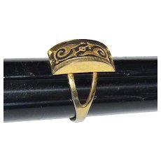 Gorgeous Damascene Adjustable Ring