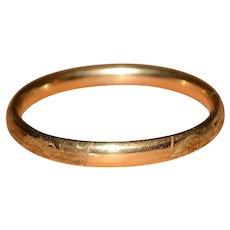 Vintage Gold Filled GF Carl Art Bangle Bracelet