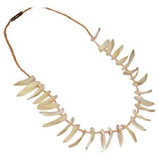 Native American Mother-of-pearl MOP Shell Statement Necklace