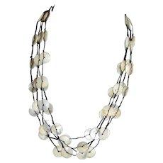 Native American Multi-Strand Shell Statement Necklace