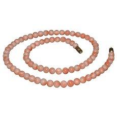 Stunning vintage Pink Angel Skin coral necklace