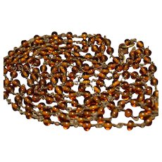stunning vintage Southwestern Baltic amber necklace, 62 inches long