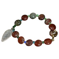 Vintage Native American polished gemstone bracelet